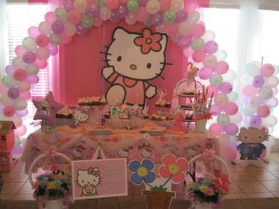 Decoraci  N Para Fiestas De Ni  As De Hello Kitty