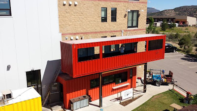 2 x Shipping Containers, - The Container Restaurant, - Durango, Colorado,