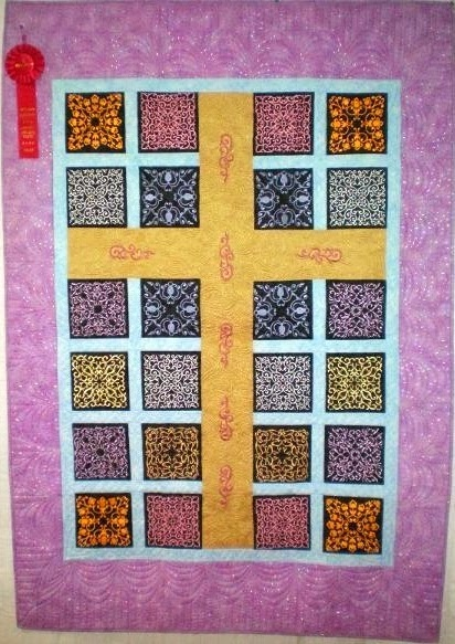 God's Promise by Maxine 2010 - Full custom quilting by Nancy.