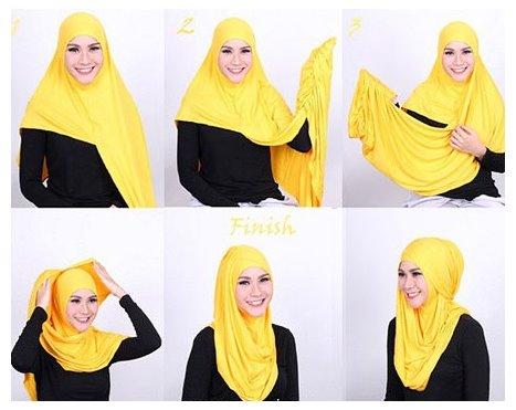 Contoh Tutorial Cara Pakai Hijab Modern Ala Zaskia Adya Mecca