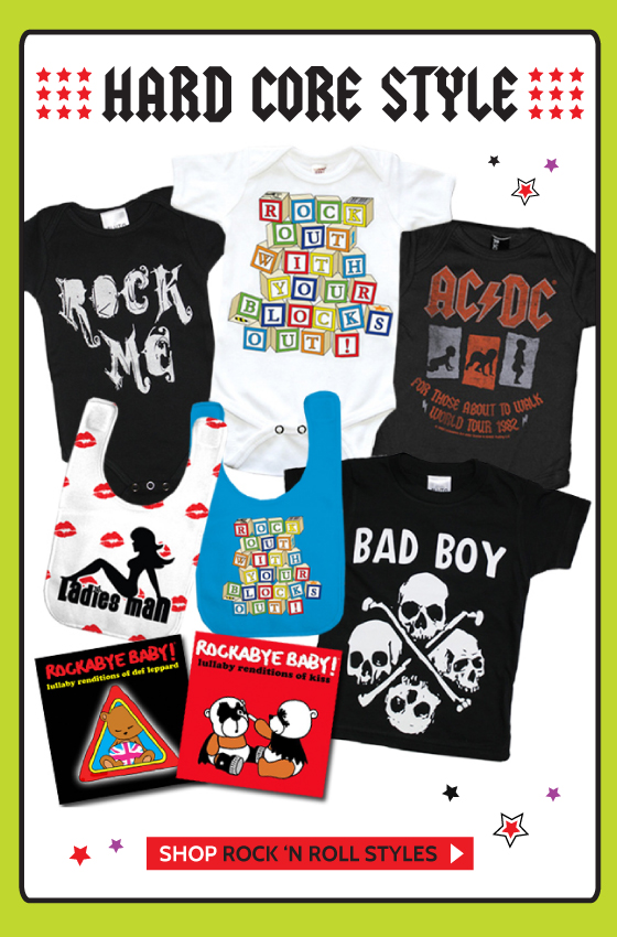 Rock and Roll Baby and Kids Clothes