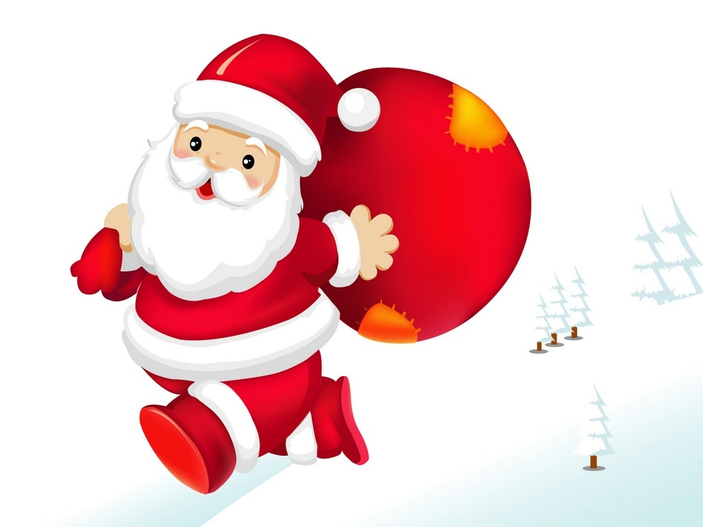 Free Merry Christmas Santa Claus HD Wallpapers for iPad | Tips and ...