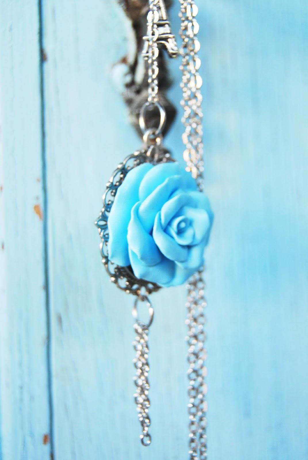 Rosa arcilla polimerica azul fimonita