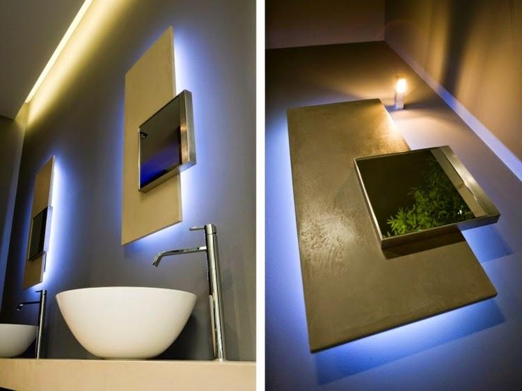 Bathroom mirrors with lighting
