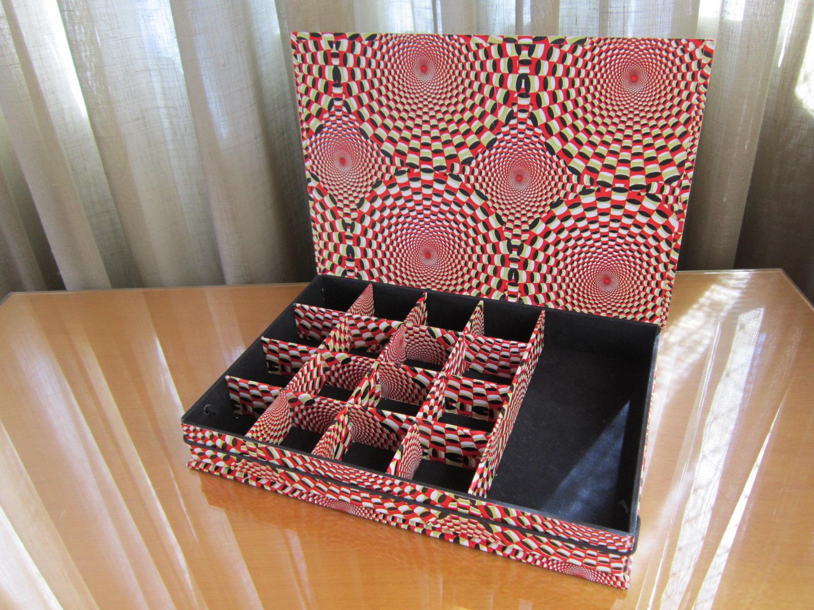 de tudo um pouco : Caixa bijouteria de papelão com diversas  #A12A30 1600x1200
