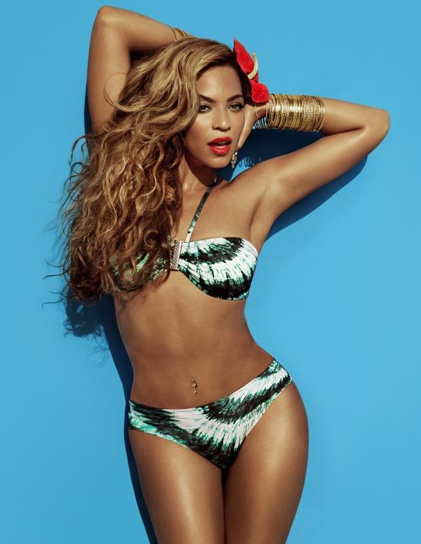 Beyoncé for H&M Summer 2013 - campaign green white bikini