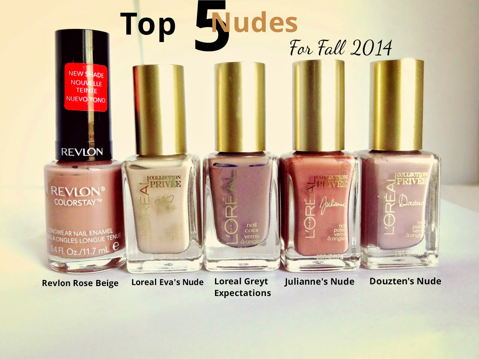 Top 5 Nude Polishes for Fall 2014