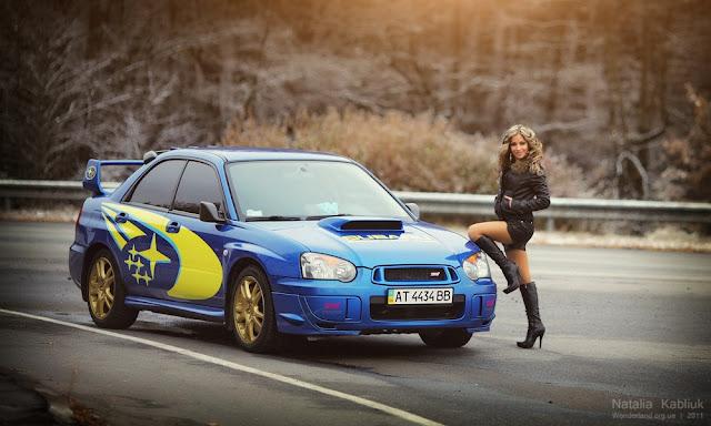 Subaru Impreza WRX STi, dziewczyny i sportowe samochody, zdjęcia