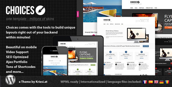 Image for Choices – Responsive Business and Portfolio Theme by ThemeForest