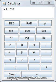 Simple Java GUI Calculator