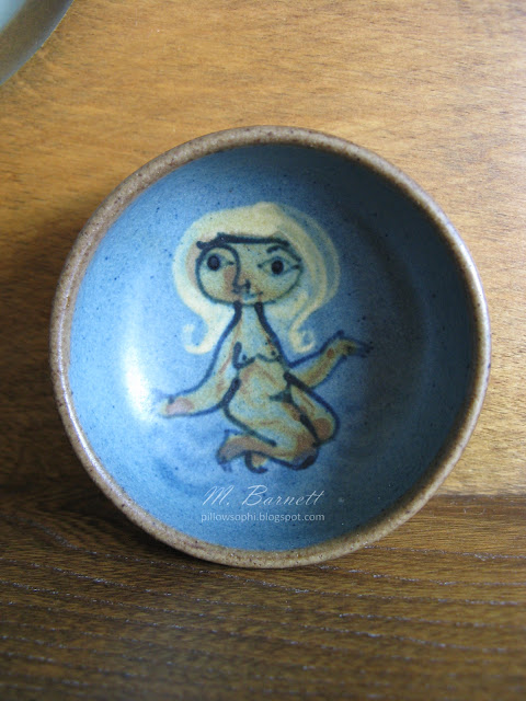 Dybdahl Denmark small bowl with nude woman decoration