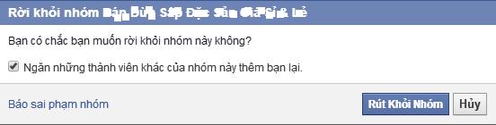 Cách thoát rút khỏi nhóm (Group) trên Facebook (FB)
