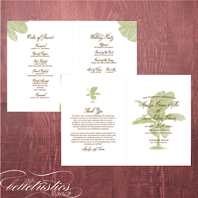 palm tree destination beach printable diy wedding ceremony program booklet