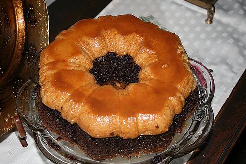 Reposteria pastel imposible choco flan - Flan a bano maria ...