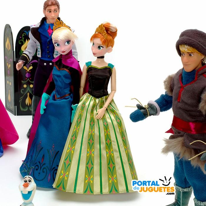 set personajes elsa anna kristoff hans olaf accesorios frozen disney store detalle
