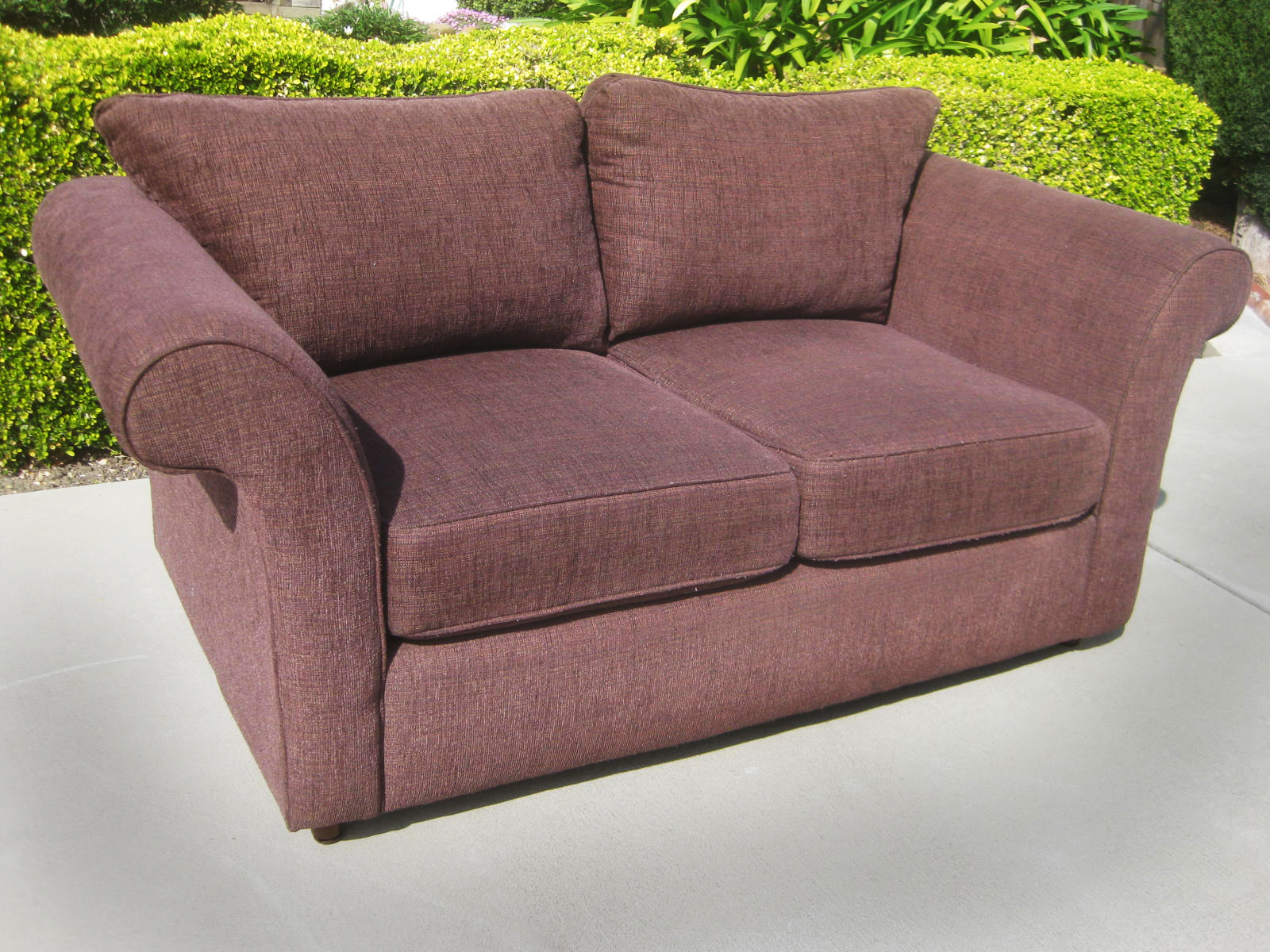 Uhuru Furniture Collectibles Sold Purple Loveseat 120