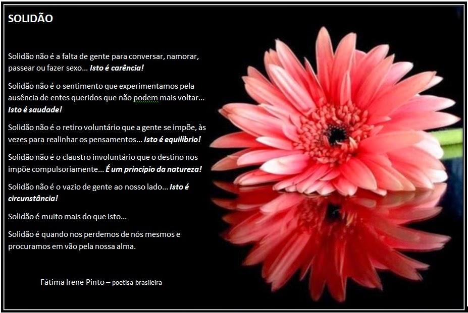 Fátima Irene Pinto; POEMA; PENSAMENTO; POETA BRASILEIRO