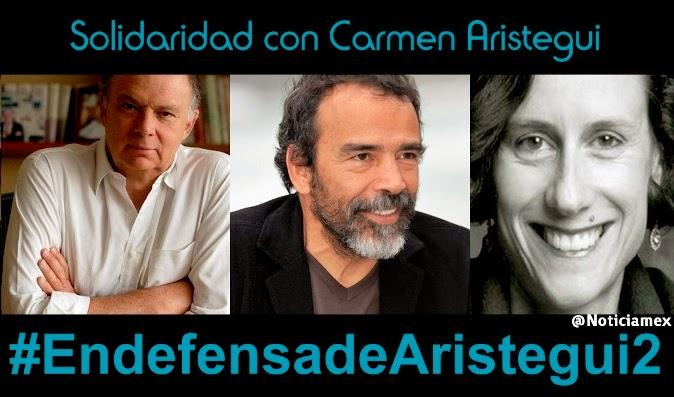 Periodistas y famosos se solidarizan con Carmen Aristegui