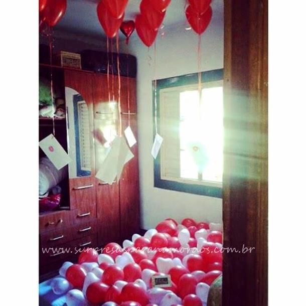 balões e mensagens
