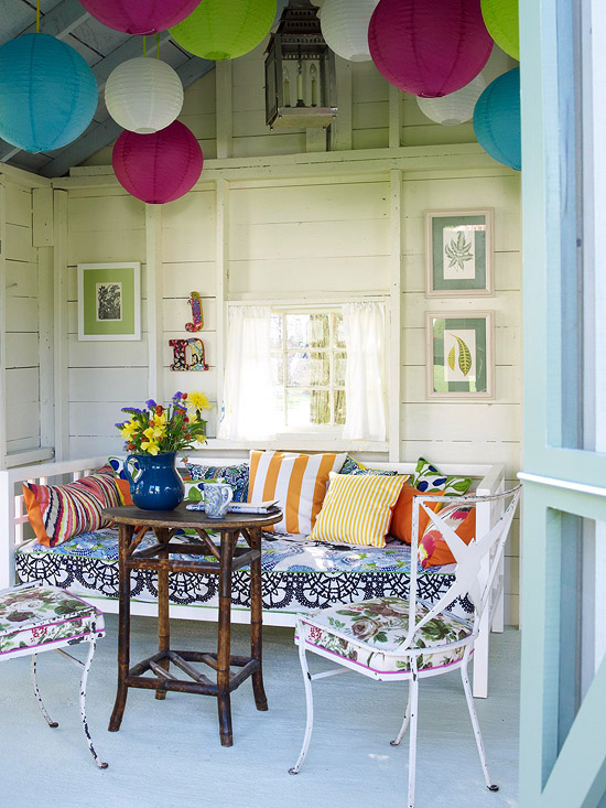 Chic Porch Room Summer 2013 Decorating Ideas | Furniture Design Ideas
