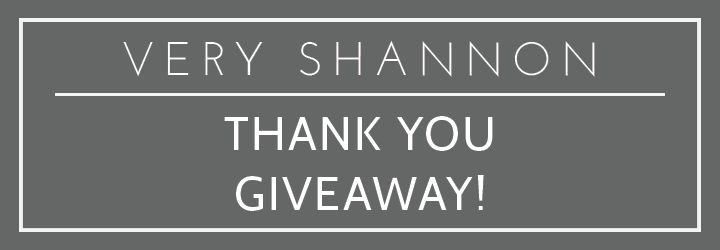Thank You Pattern Giveaway! || Very Shannon