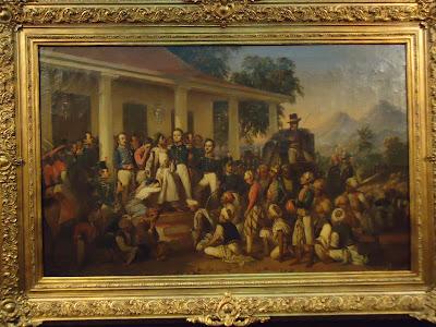Inilah Salah Satu Lukisan Termahal di Indonesia, budaya indonesia, D-A. Blog, lukisan penangkapan diponegoro, lukisan gefangennahme diepo negoros.