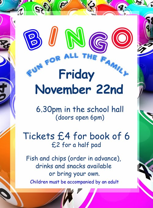 ... Lady's Parent Staff Association: Family Fun Bingo Night November 22nd