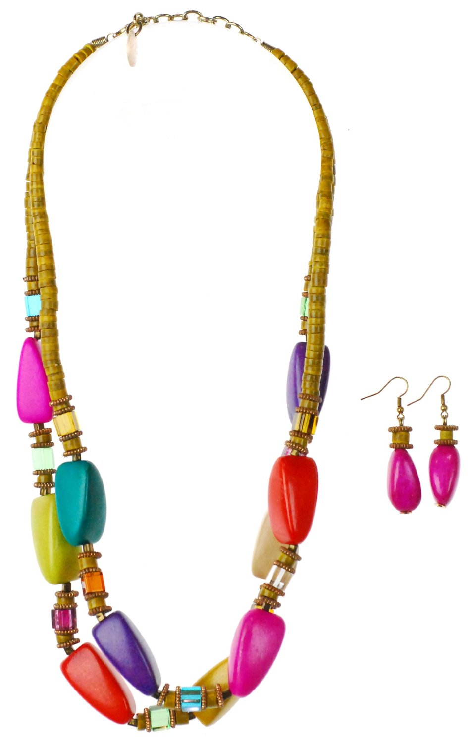 Colorful necklaces for plus size outfits