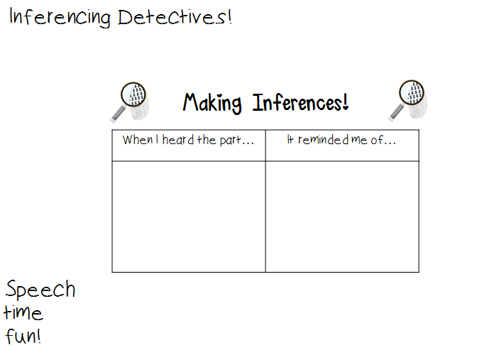 graphic relating to Printable Inference Games called Inferencing Detectives Exciting! - Speech Year Enjoyable: Speech and