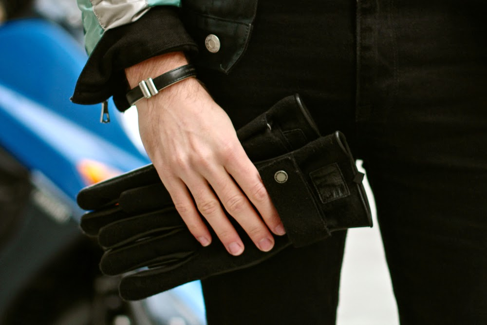 Bracelet en cuir Antonio Benchimol -  Kaporal leather gloves gants cuir - BLOG MODE HOMME mensfashion