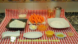 Receta fácil bizcocho de zanahoria