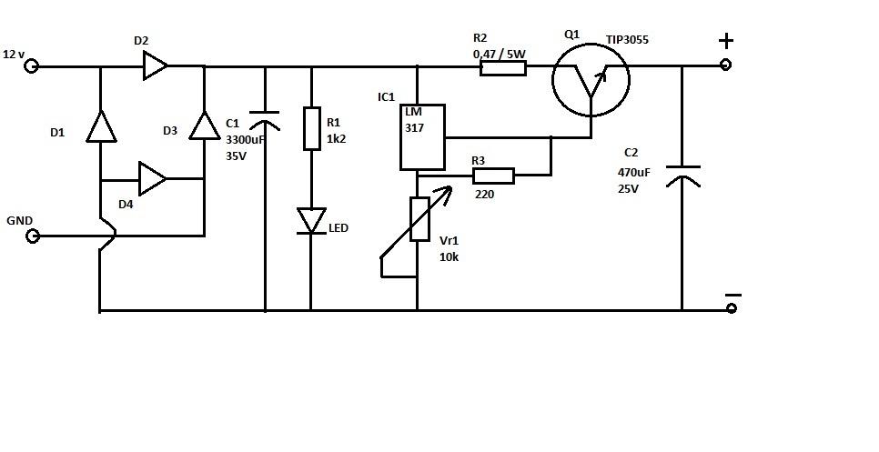 smk pgri 3 malang elektronika  rangkaian dan layout power
