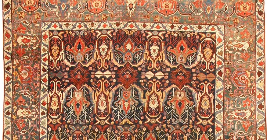 Exceptional TEA AND CARPETS: Bijar Rugs And The Art Of Persian Town And Village Weaving