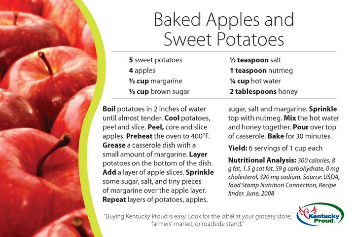 An Enchanted Life as a Wife!: Baked Apples and Sweet Potatoes!!!