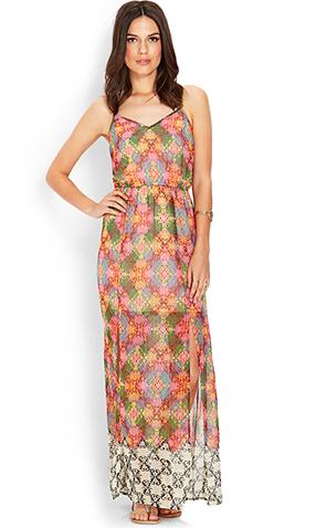 Colorful pattern Forever21 maxi dress