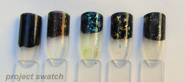 swatches - Nails, Inc. The Old Vic, Nubar 2010, Sinful Colors Green Ocean, China Glaze Luxe and Lush, Sally Hanson Glass Slipper