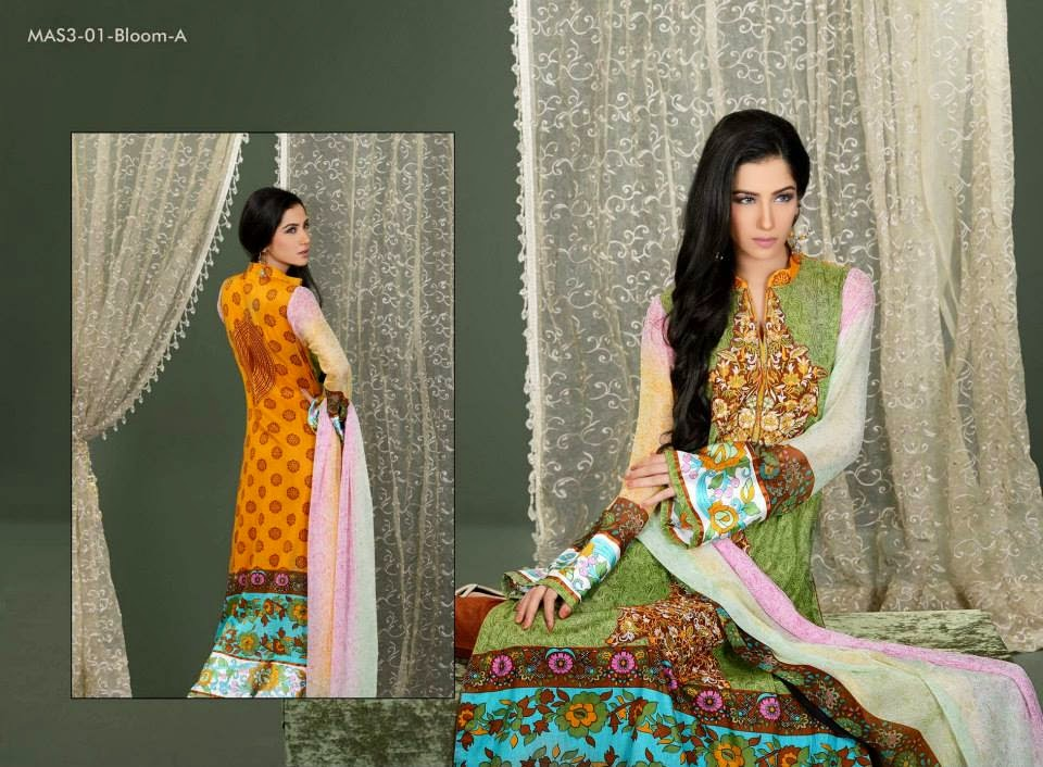 MashaalEmbroideredCollection2014VOL 03ByLalaTextile 10  - Mashaal Embroidered Collection 2014 VOL-3