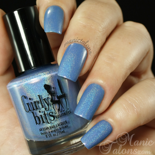 Girly Bits Lacquer Bachelors Button Swatch