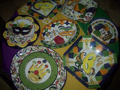 The Uptown Acorn Mardi Gras Ceramic Serveware Oh My