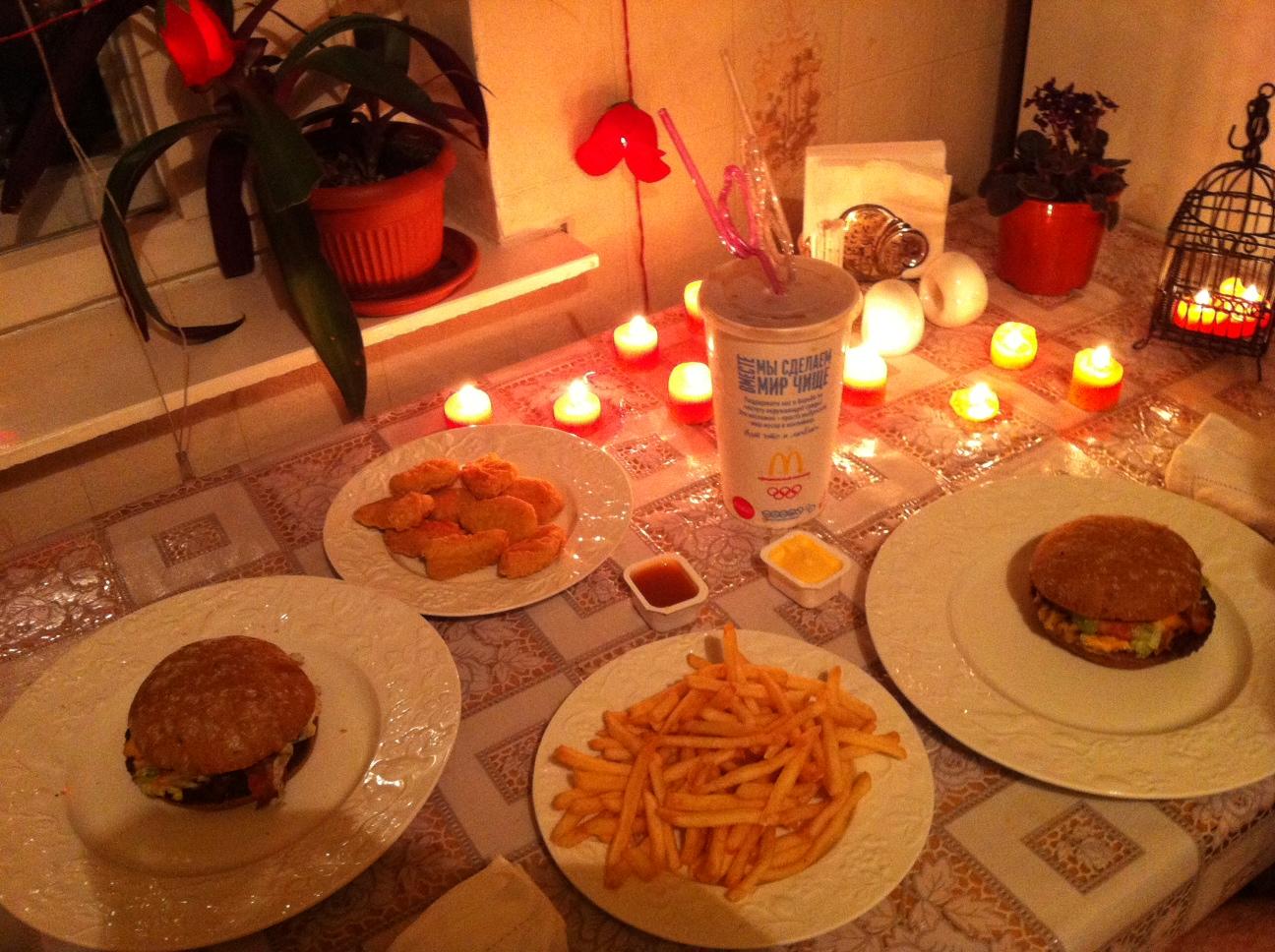 Романтический ужин для любимой в домашних условиях идеи фото