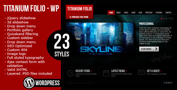 Titanium Folio - Theme by ThemeForest