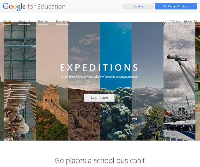 Expeditions para Google CardBoard Educación