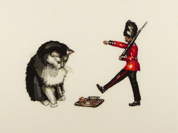 κέντημα σχέδια, κέντημα γάτα, κέντημα