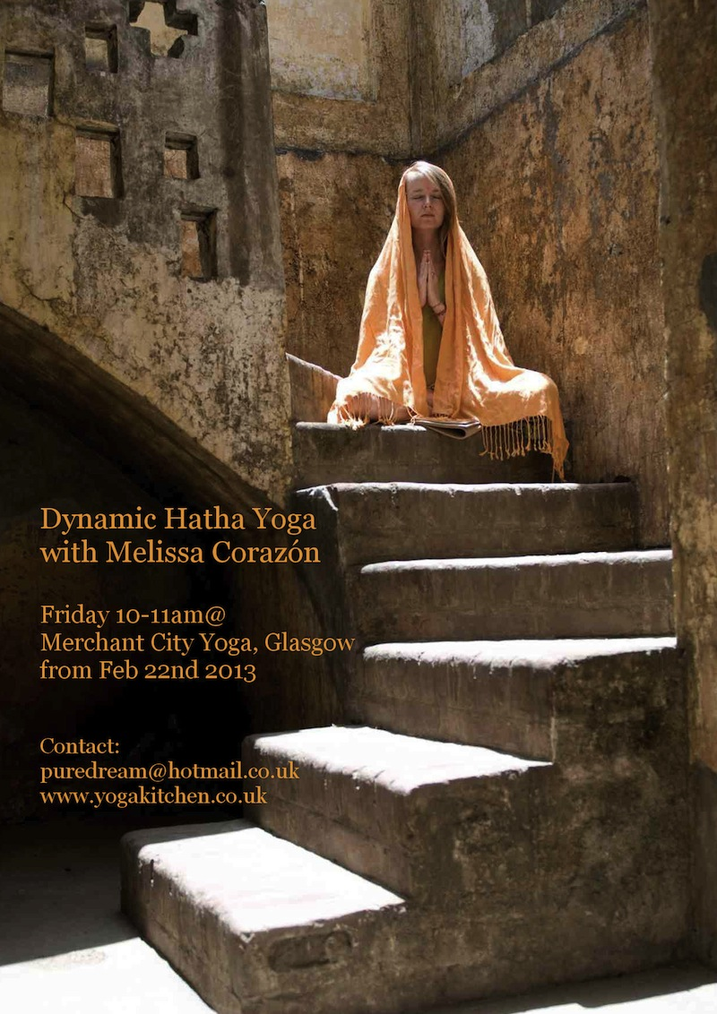 Yoga Class with Melissa in Merchant City Glasgow Poster