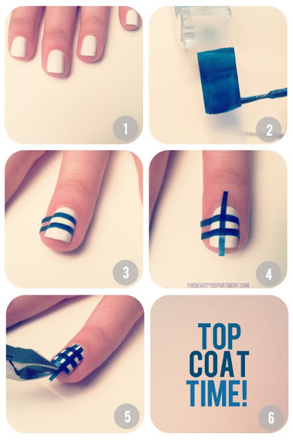 Easy cute nail designs cross