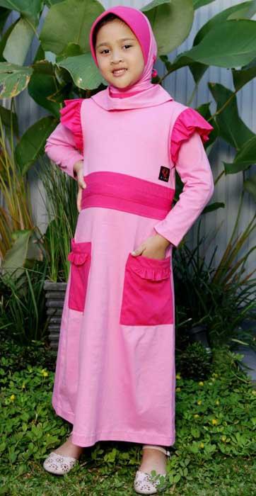 Hasanah Wardah Baju Muslim Anak Kode D725m