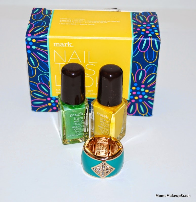 mark cosmetics review, mark Spring 2014, Nail This Look, mark Nail this Look Nail Color & Ring Set, mark Nail Polish Review