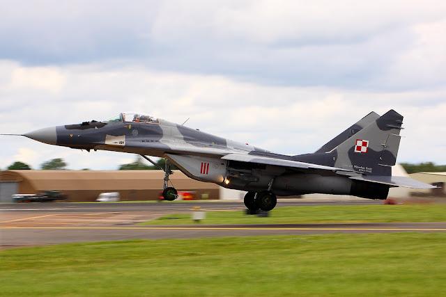 Polish Mig-29 Fulcrum takeoff