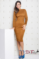 rochie-office-Bright Brown