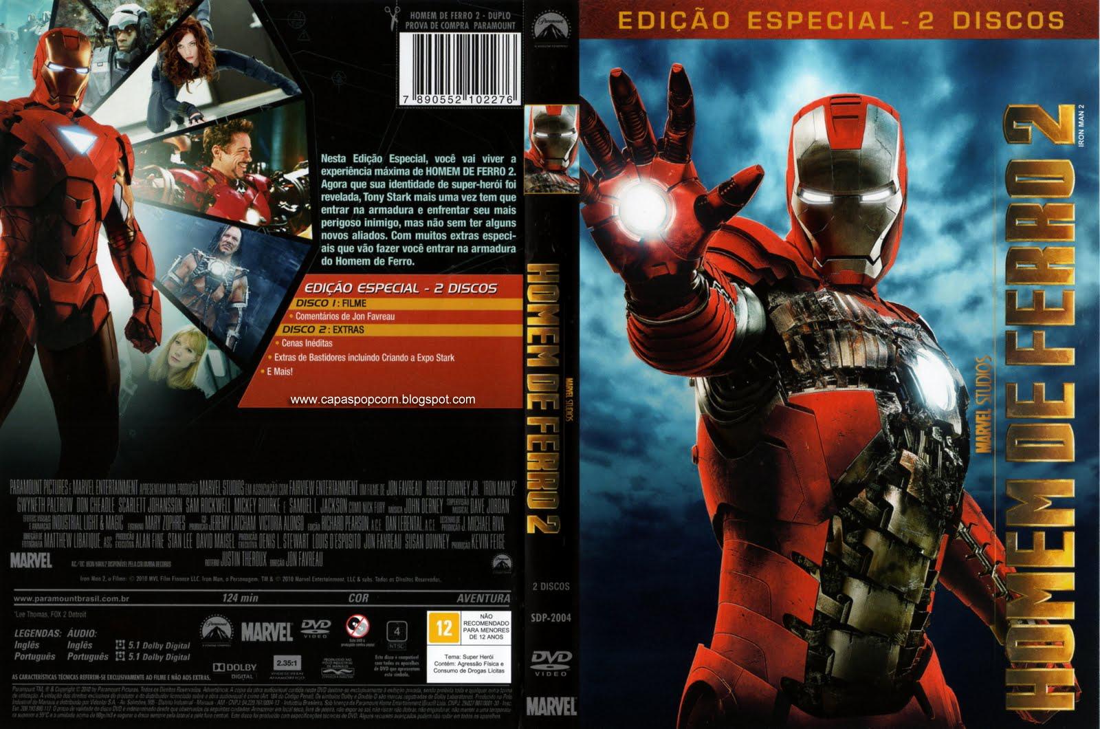 Capa homem de ferro 2 dvd duplo